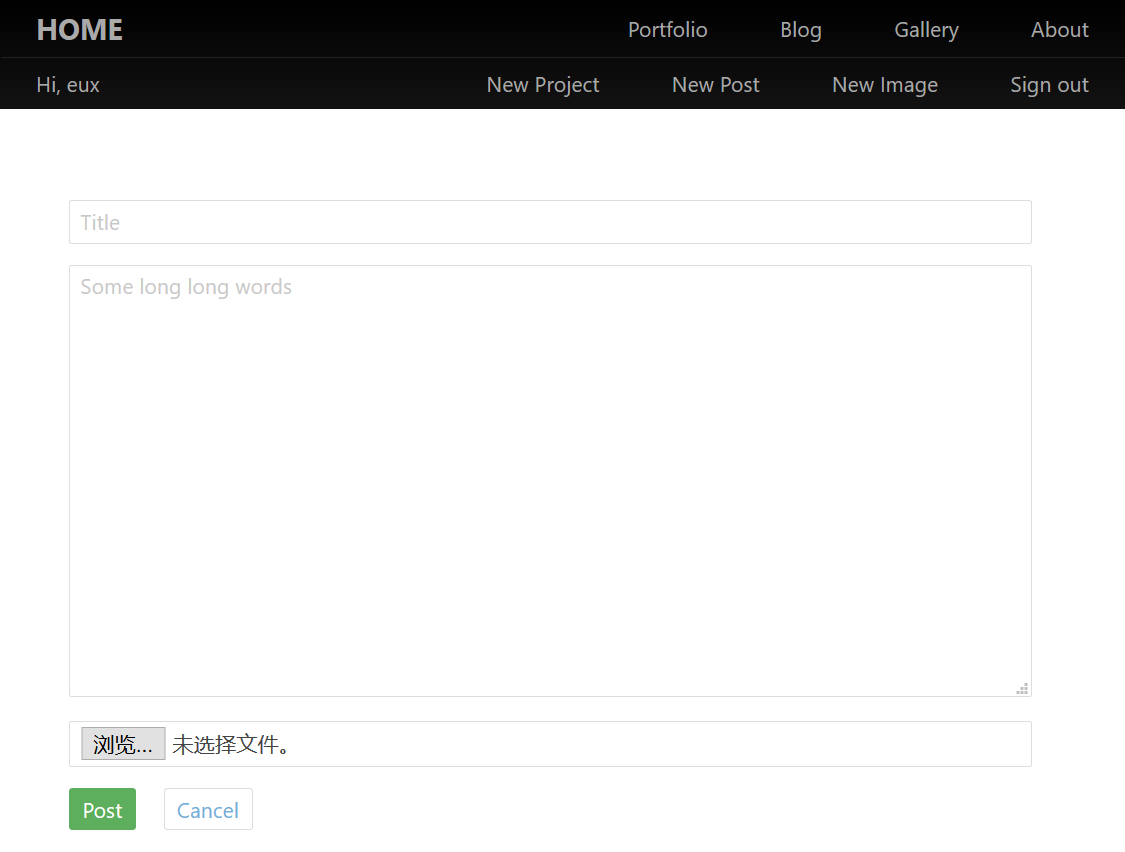 Eux's Site Preview