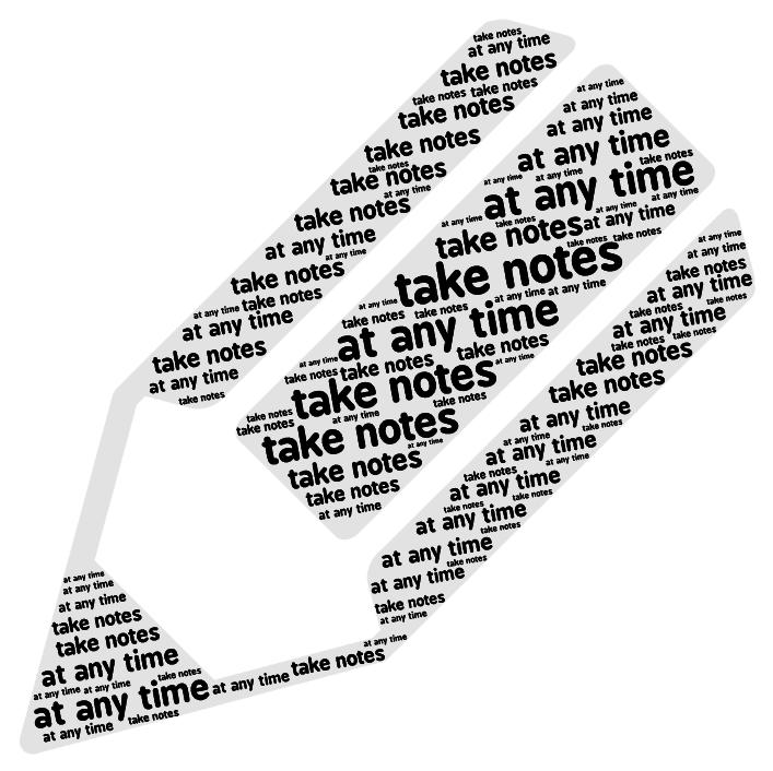 Take notes at any time  medium